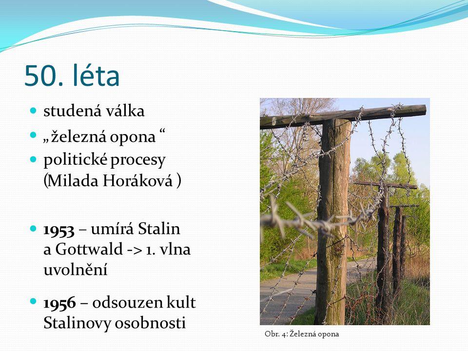 "50. léta "" ( ) studená železná MiladaHoráková Obr."