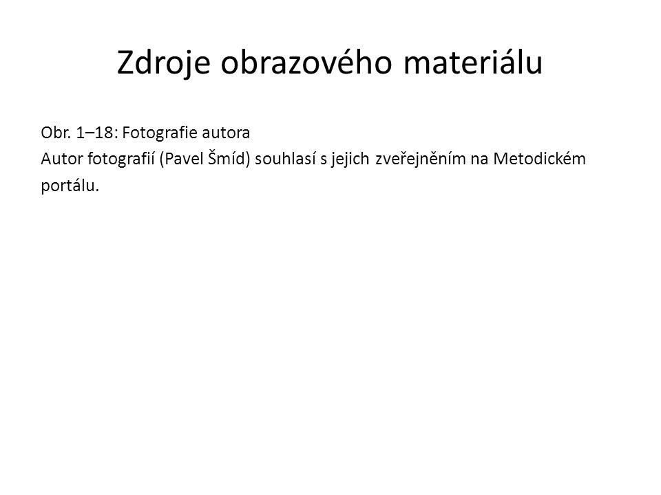 Zdroje obrazového materiálu Obr. 1–18: Fotografie autora Autor fotografií (Pavel Šmíd) souhlasí s jejich zveřejněním na Metodickém portálu.