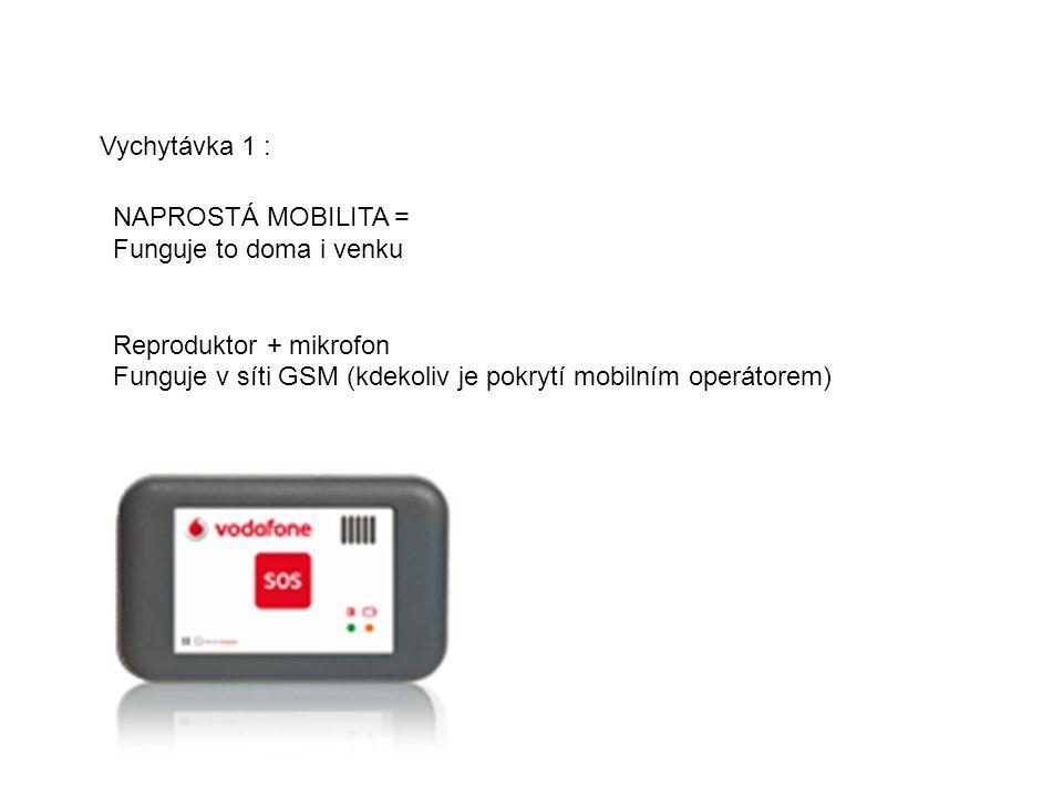 Vychytávka 1 : NAPROSTÁ MOBILITA = Funguje to doma i venku Reproduktor + mikrofon Funguje v síti GSM (kdekoliv je pokrytí mobilním operátorem)