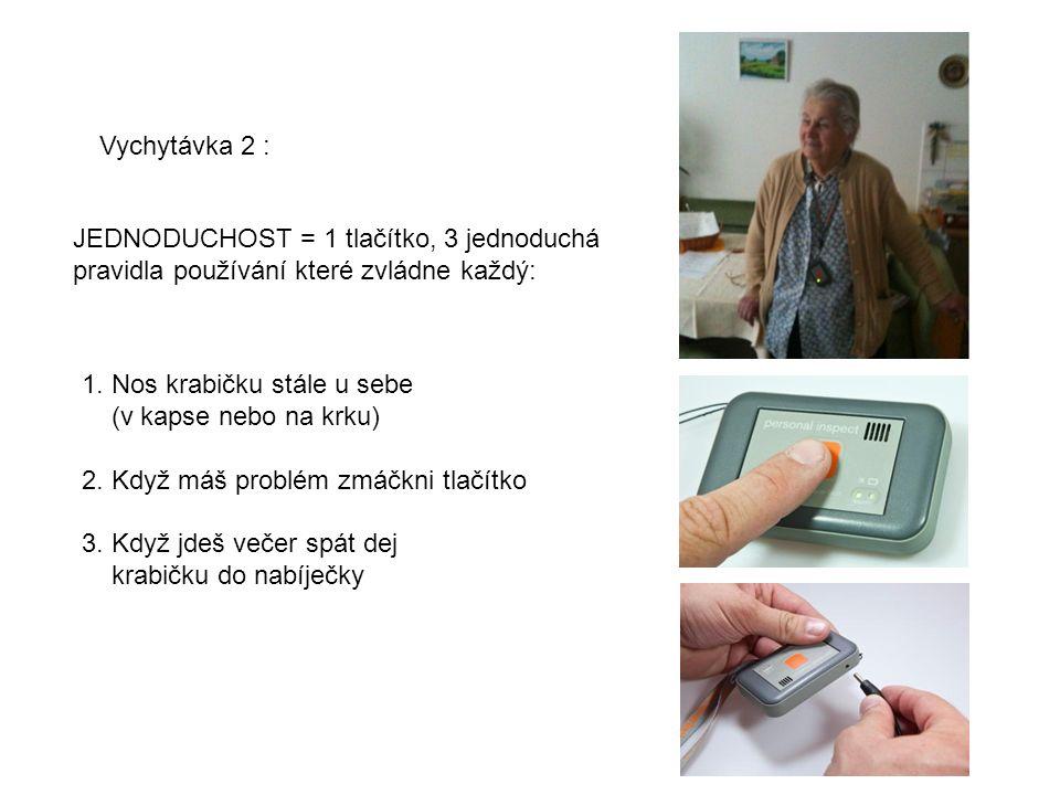 Vychytávka 2 : JEDNODUCHOST = 1 tlačítko, 3 jednoduchá pravidla používání které zvládne každý: 1.