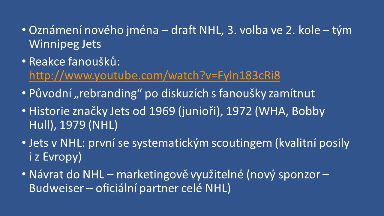 Oznámení nového jména – draft NHL, 3. volba ve 2.
