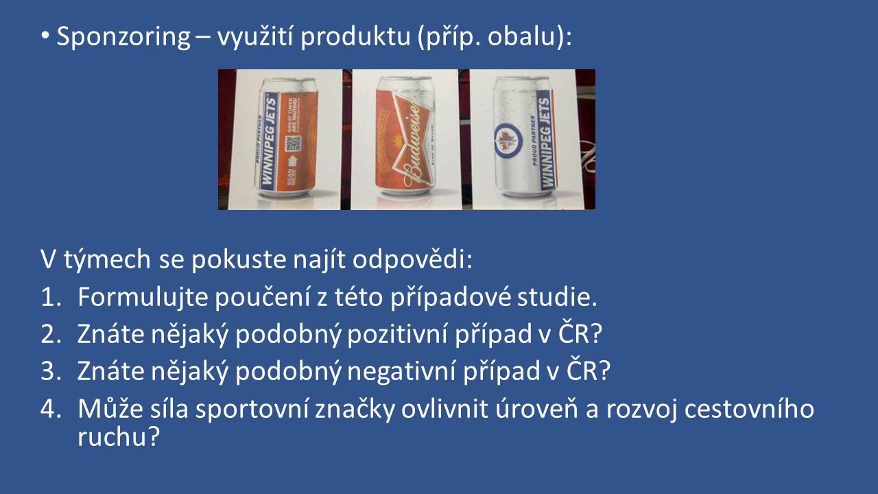 Sponzoring – využití produktu (příp.
