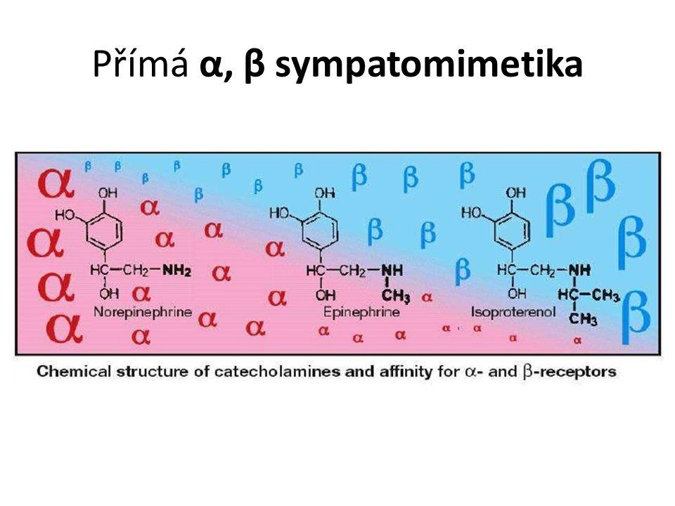 Přímá α, β sympatomimetika