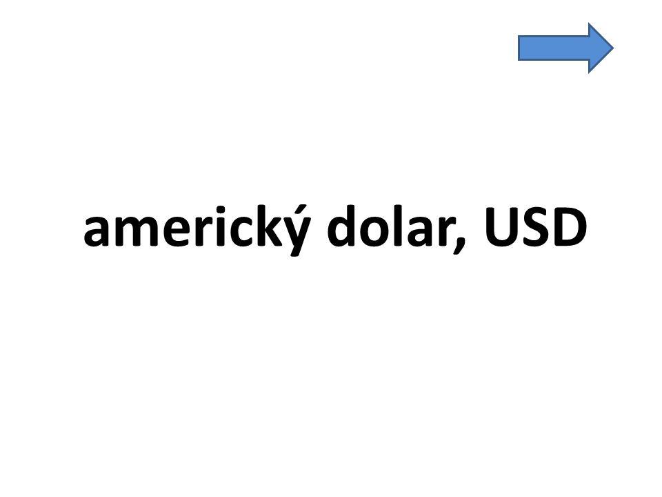 americký dolar, USD