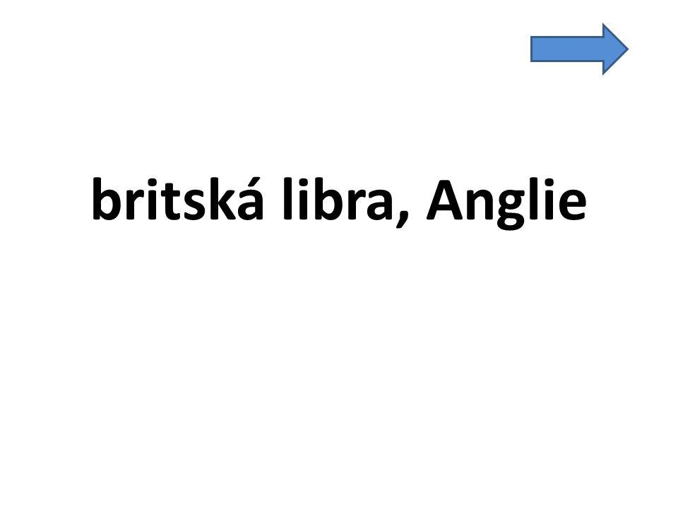 britská libra, Anglie