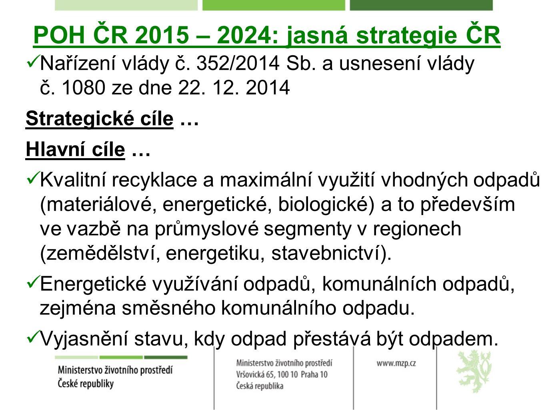 POH ČR 2015 – 2024: jasná strategie ČR Nařízení vlády č.