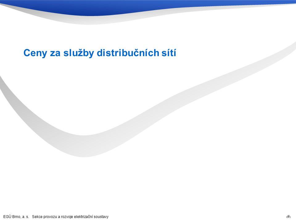 EGÚ Brno, a. s. Sekce provozu a rozvoje elektrizační soustavy 34 Ceny za služby distribučních sítí