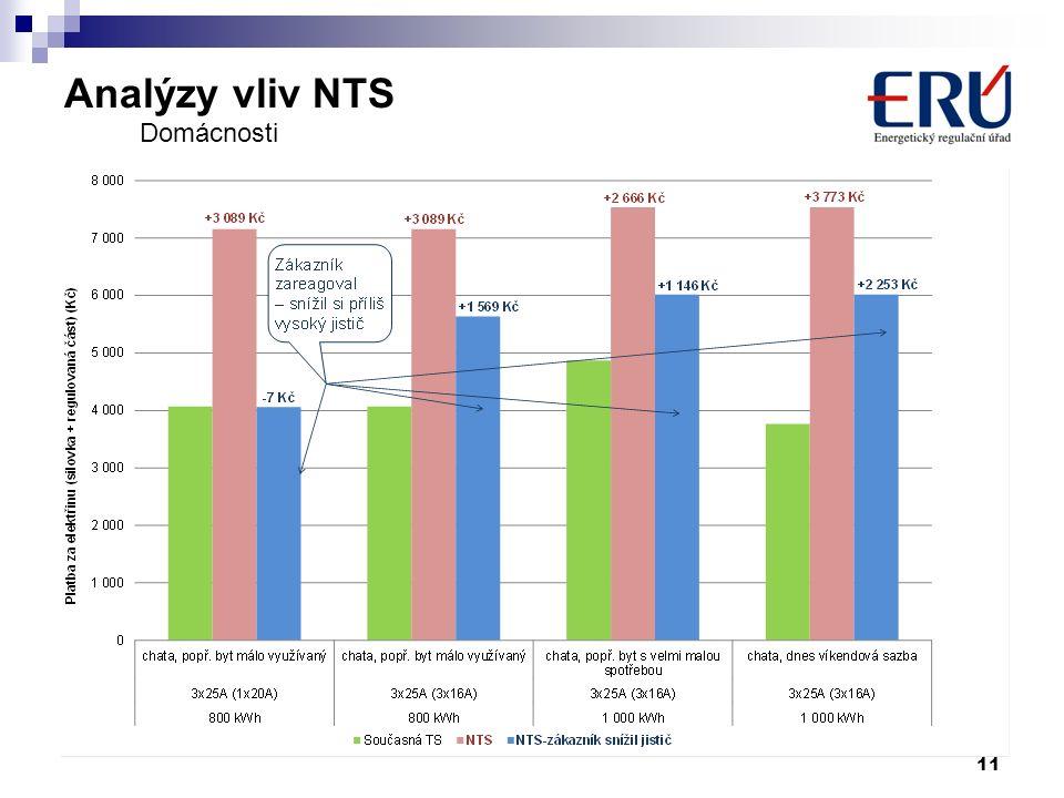 Analýzy vliv NTS 11 Domácnosti