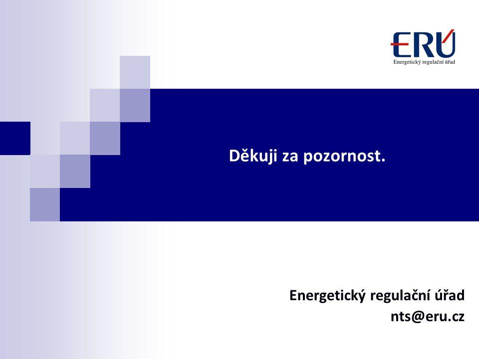 Děkuji za pozornost. Energetický regulační úřad nts@eru.cz