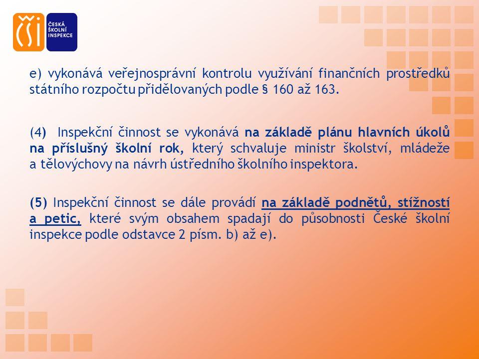 e) vykonává veřejnosprávní kontrolu využívání finančních prostředků státního rozpočtu přidělovaných podle § 160 až 163.