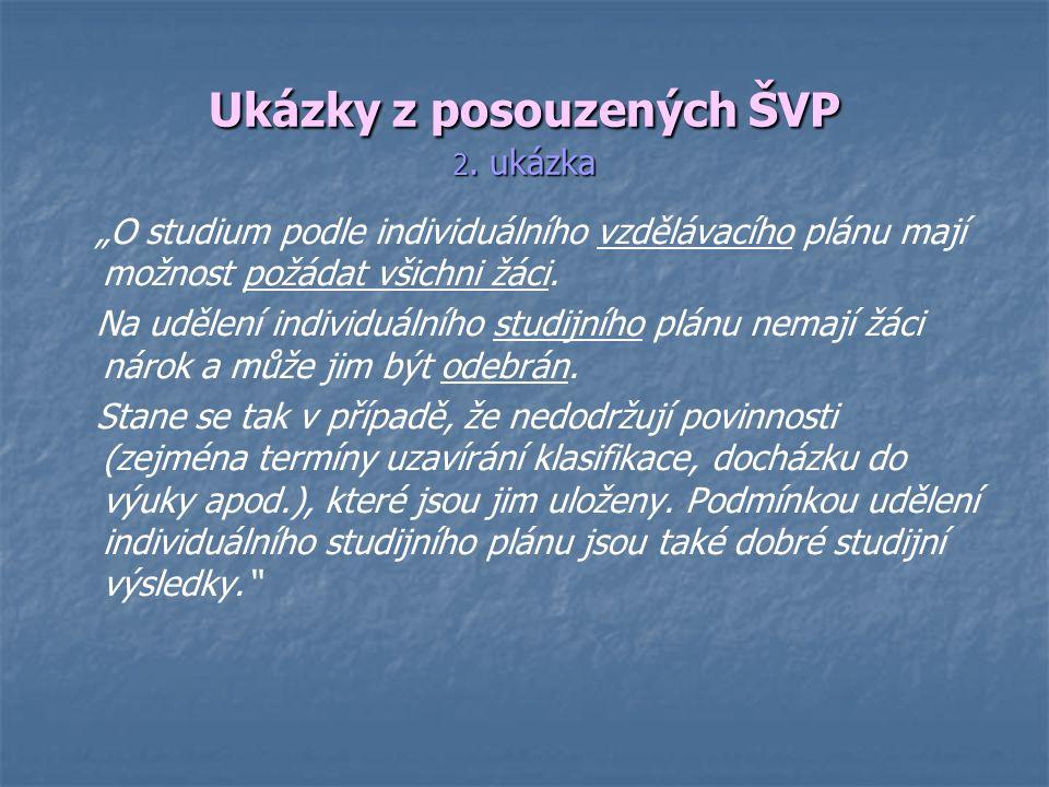 Ukázky z posouzených ŠVP 2.