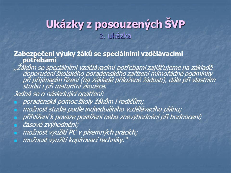 Ukázky z posouzených ŠVP 3.