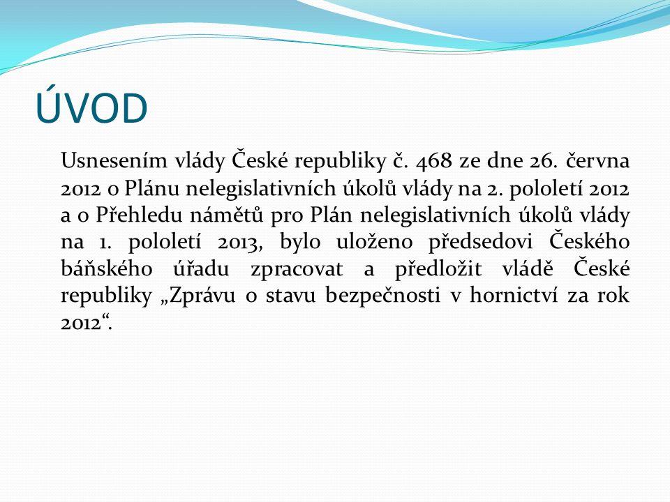 ÚVOD Usnesením vlády České republiky č. 468 ze dne 26.