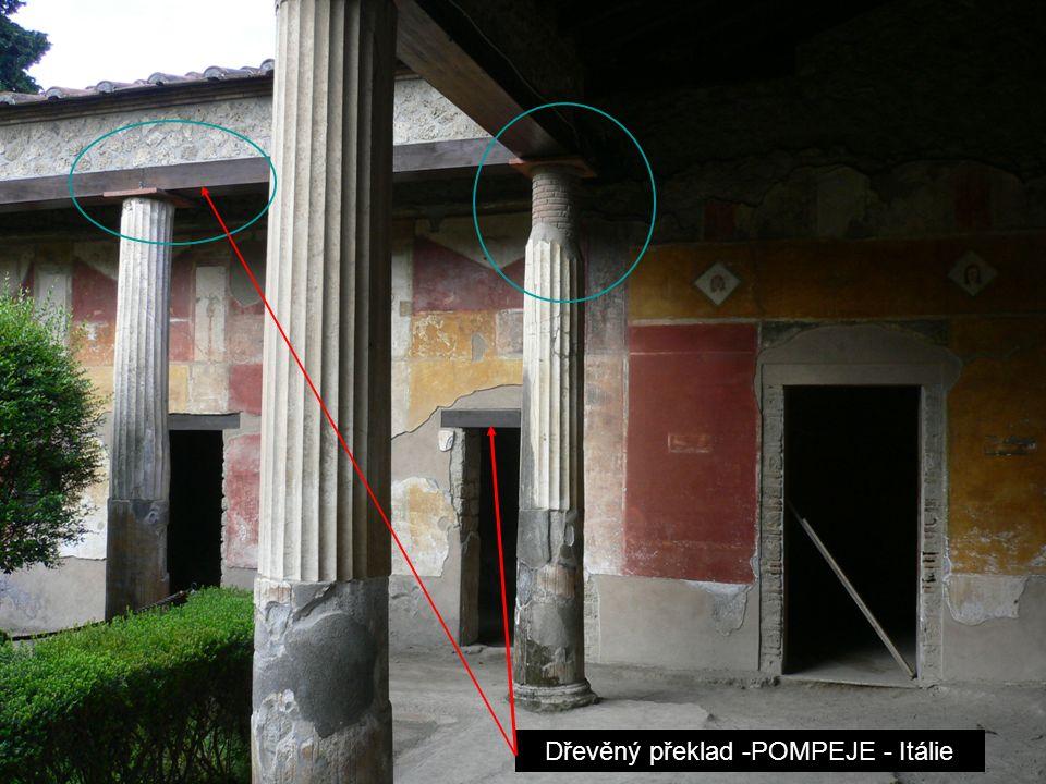 Dřevěný překlad -POMPEJE - Itálie