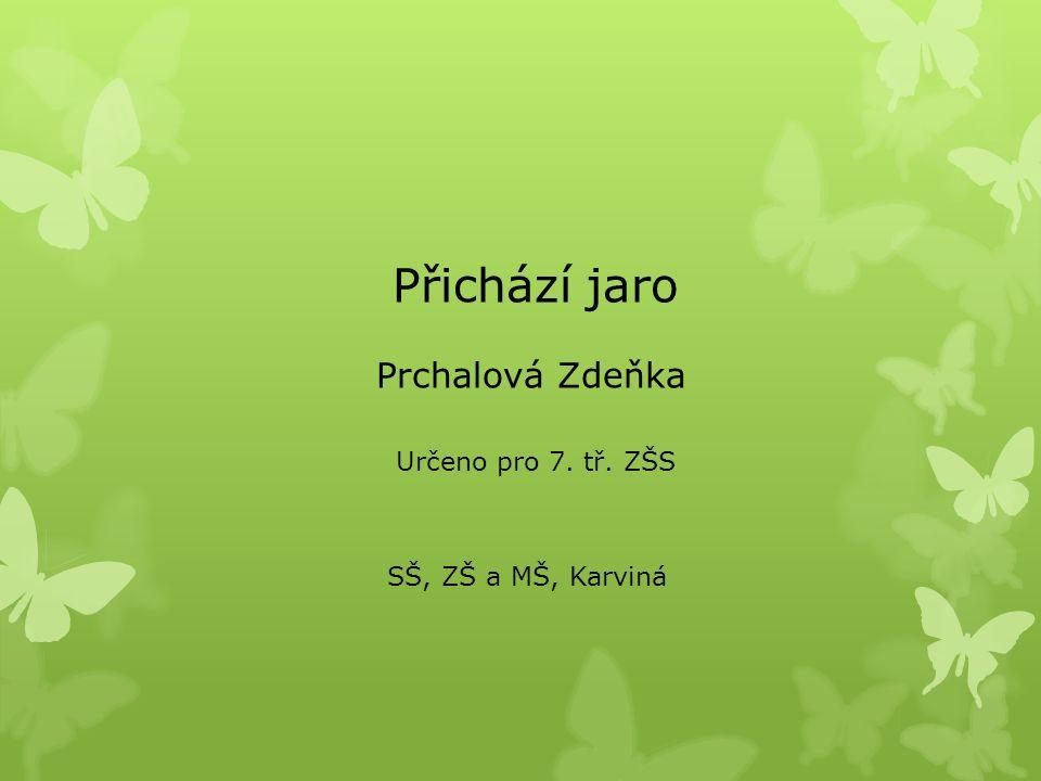 Přichází jaro Prchalová Zdeňka SŠ, ZŠ a MŠ, Karviná Určeno pro 7. tř. ZŠS