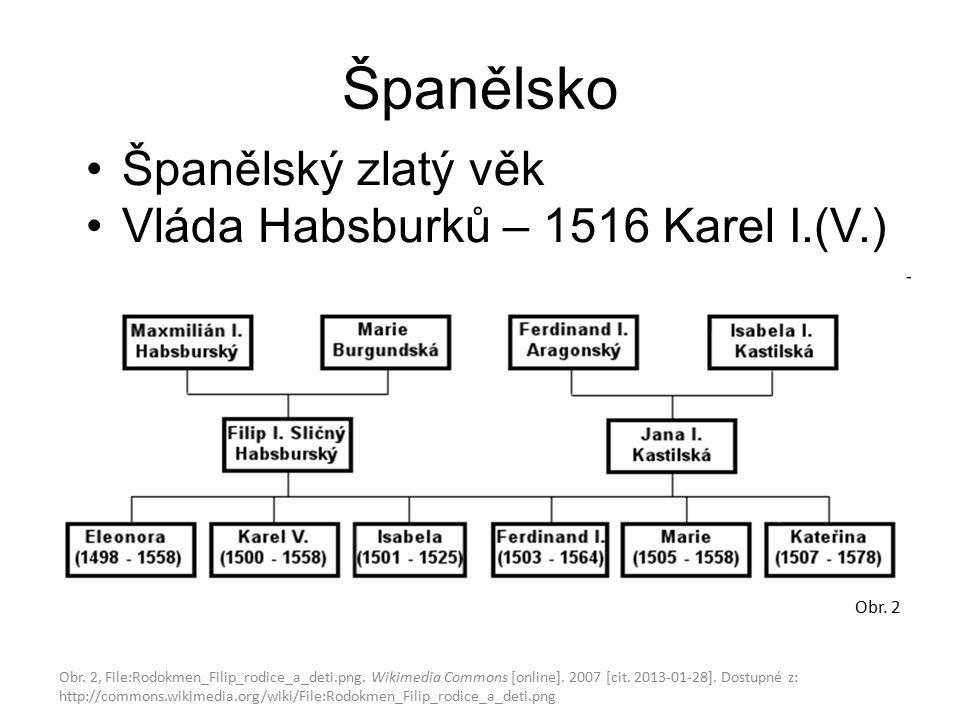 Španělsko Španělský zlatý věk Vláda Habsburků – 1516 Karel I.(V.) Obr.
