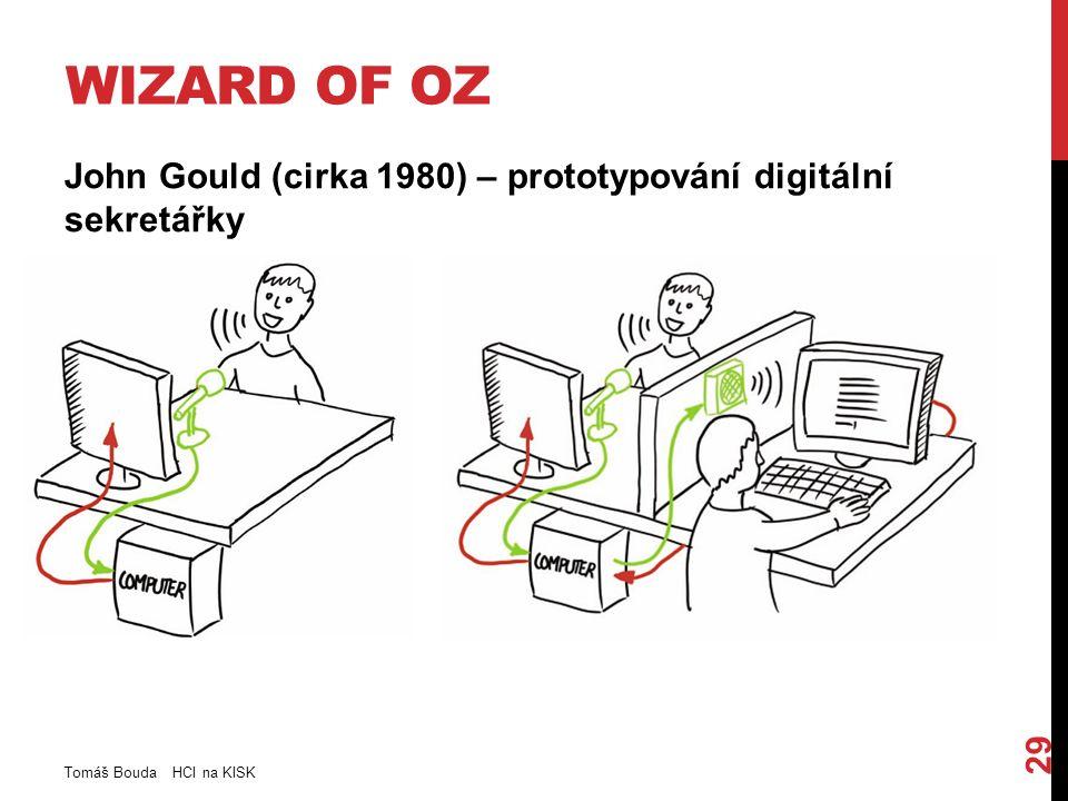 WIZARD OF OZ John Gould (cirka 1980) – prototypování digitální sekretářky Tomáš Bouda HCI na KISK 29