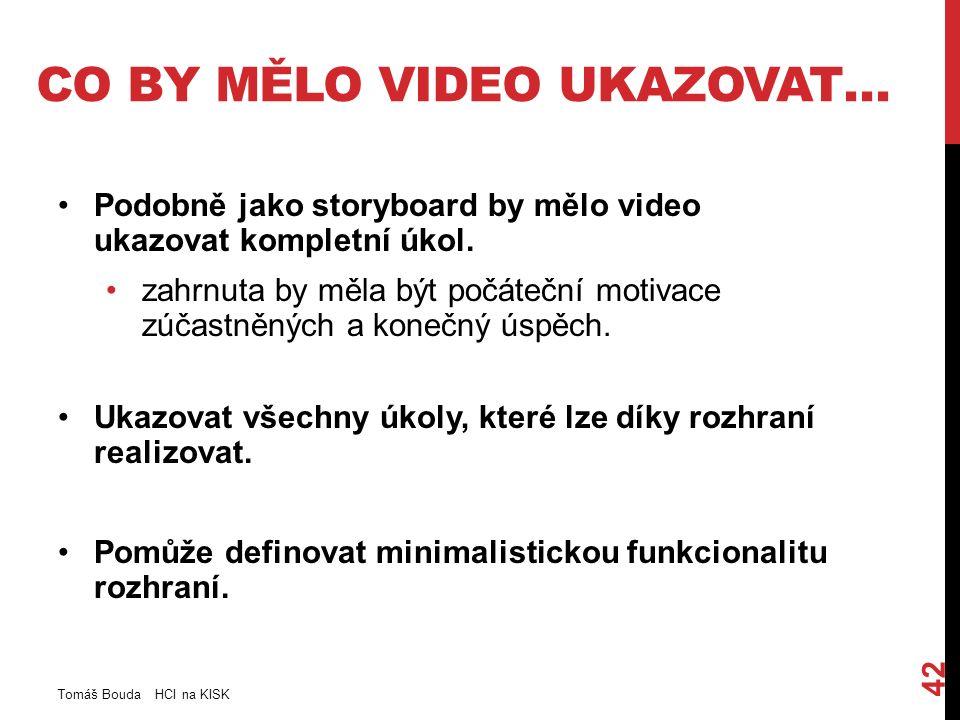 CO BY MĚLO VIDEO UKAZOVAT… Podobně jako storyboard by mělo video ukazovat kompletní úkol.
