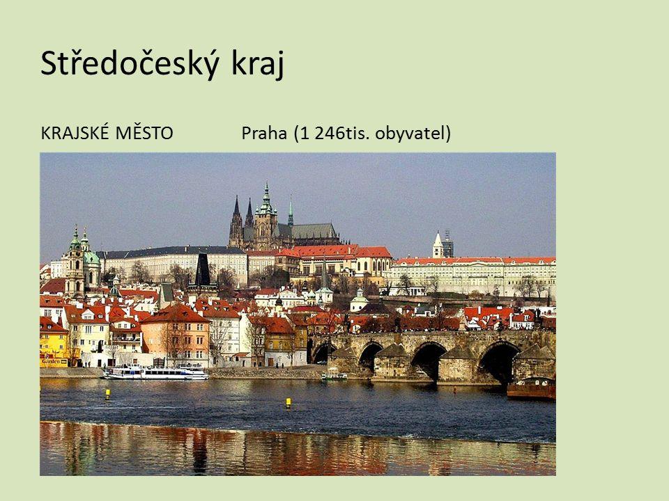 Středočeský kraj KRAJSKÉ MĚSTO Praha (1 246tis. obyvatel)