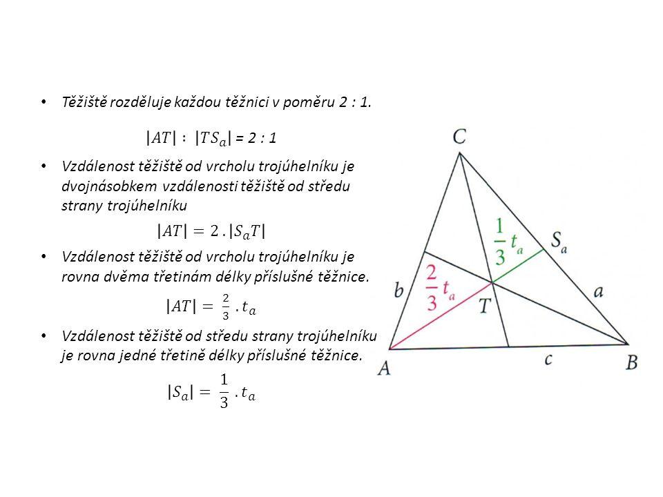 STŘEDNÍ PŘÍČKA trojúhelníku je úsečka, jejímiž krajními body jsou středy dvou stran trojúhelníku.
