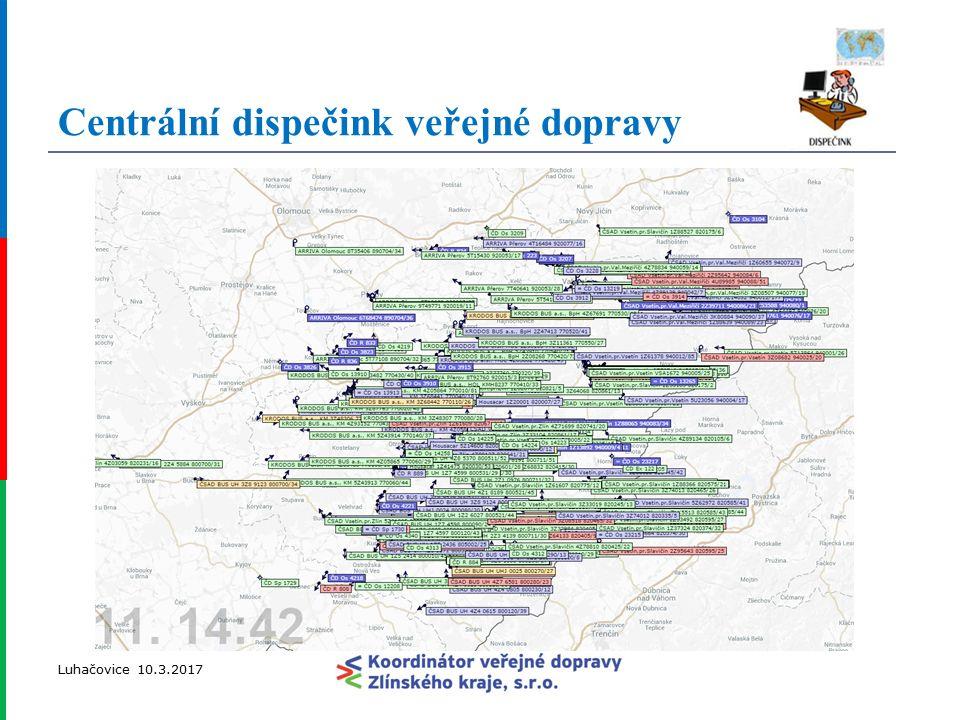 Luhačovice 10.3.2017 Centrální dispečink veřejné dopravy