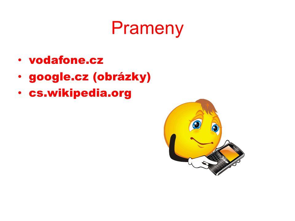 Prameny vodafone.cz google.cz (obrázky) cs.wikipedia.org