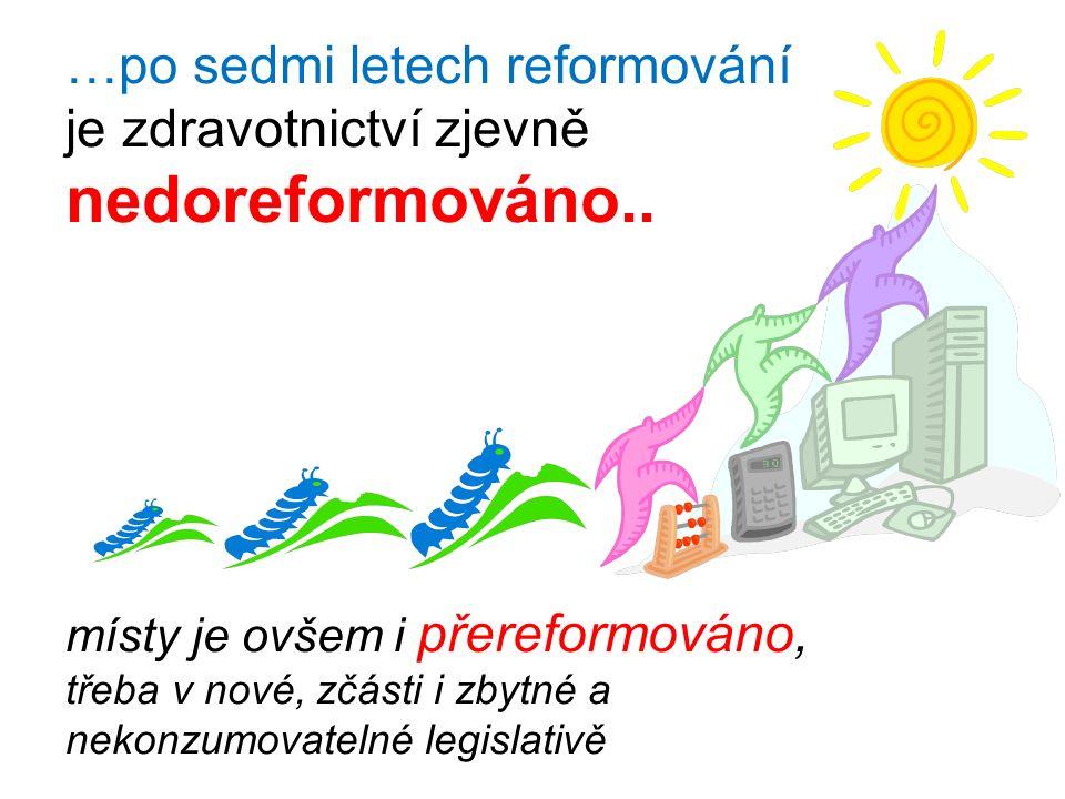 …po sedmi letech reformování je zdravotnictví zjevně nedoreformováno..