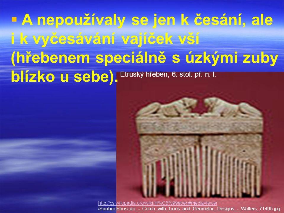 Etruský hřeben, 6. stol. př. n. l.