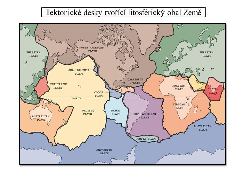 Tektonické desky tvořící litosférický obal Země