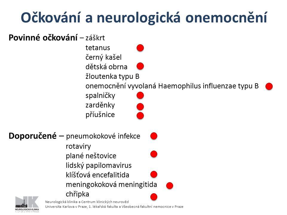 Neurologická klinika a Centrum klinických neurověd Universita Karlova v Praze, 1.