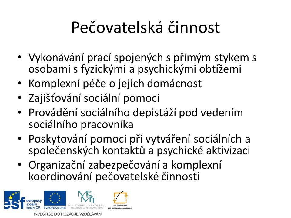 Podmínky pro výkon činnosti pracovníka v sociálních službách Odborná způsobilost Bezúhonnost Zdravotní způsobilost
