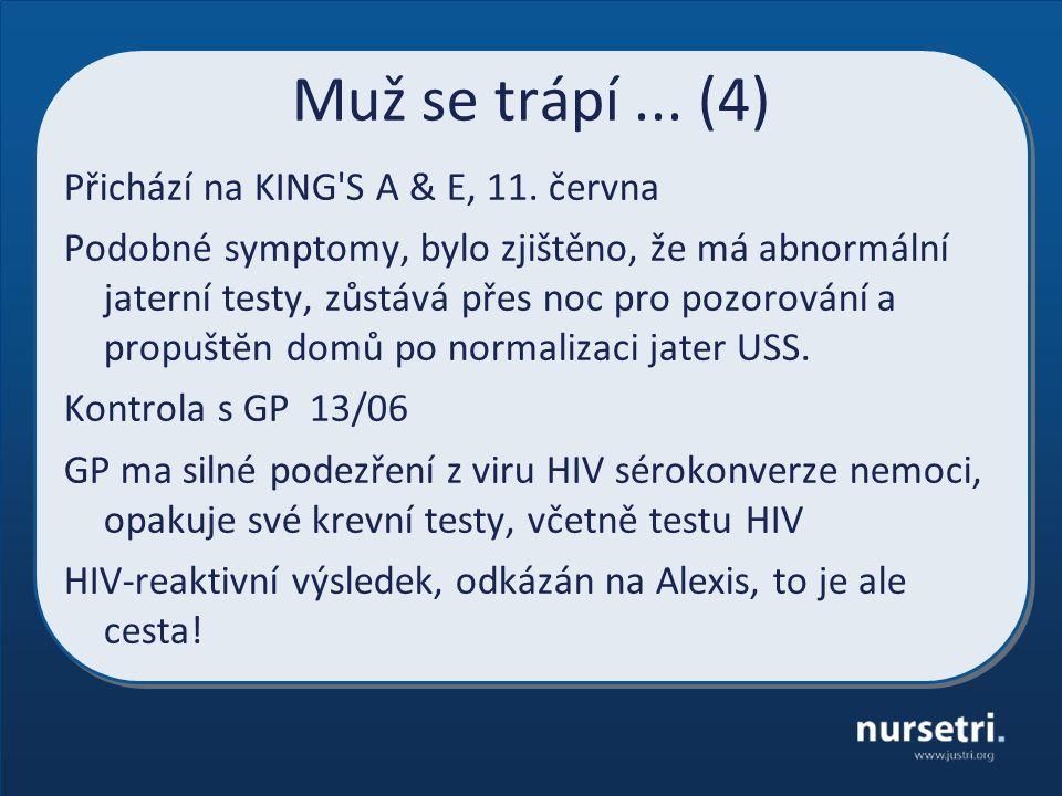 Muž se trápí...(4) Přichází na KING S A & E, 11.