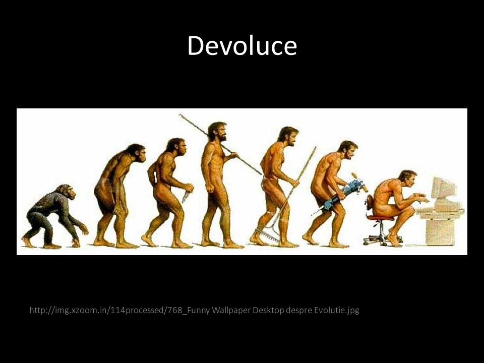 Devoluce http://img.xzoom.in/114processed/768_Funny Wallpaper Desktop despre Evolutie.jpg