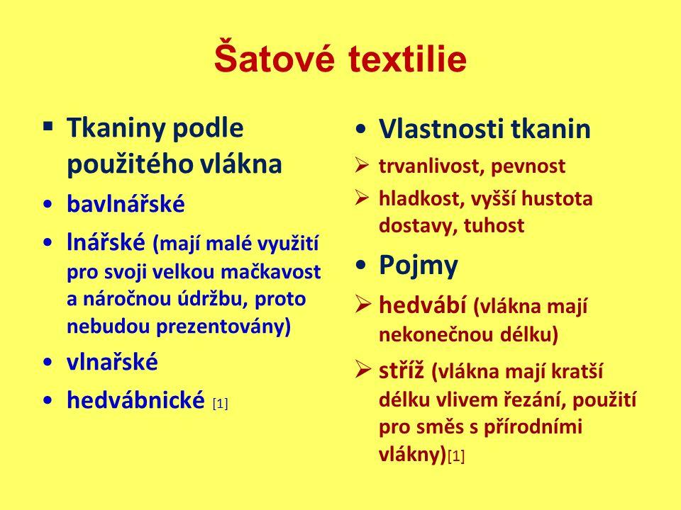Správná řešení 4.Popište vlastnosti pletenin jako šatových textilií.