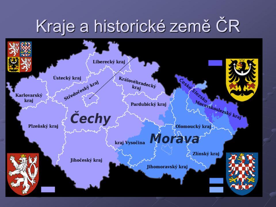 Kraje a historické země ČR