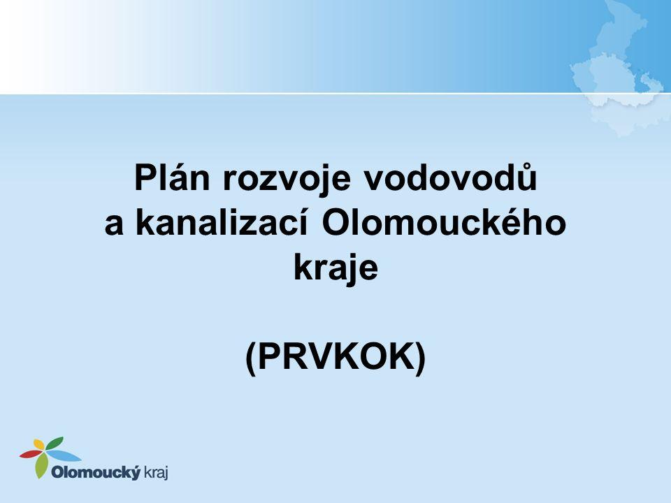 Plán rozvoje vodovodů a kanalizací Olomouckého kraje (PRVKOK)