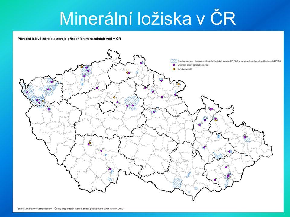 Minerální ložiska v ČR