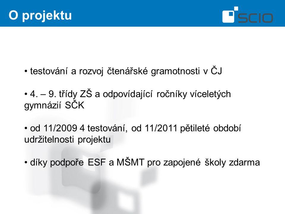 O projektu testování a rozvoj čtenářské gramotnosti v ČJ 4.