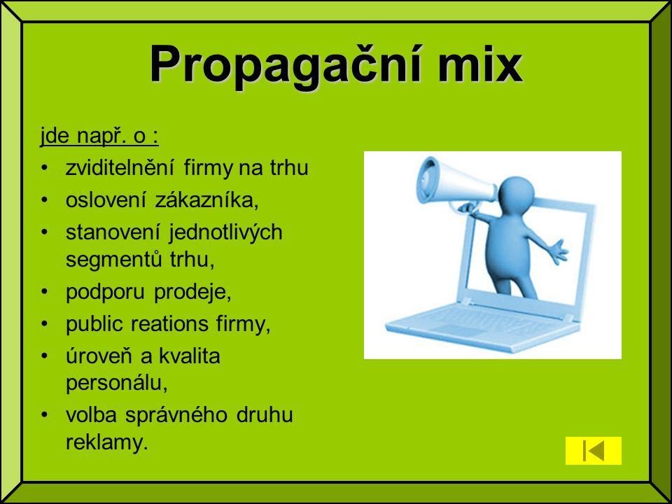 Propagační mix jde např.