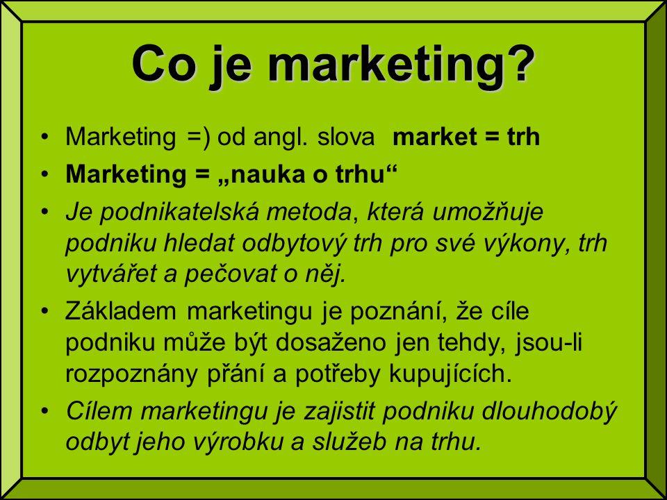 Moderní pojetí mktg mixu Moderní marketing v průběhu 90.