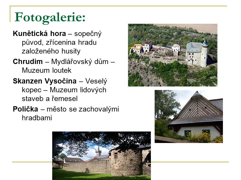 Fotogalerie: Kunětická hora – sopečný původ, zřícenina hradu založeného husity Chrudim – Mydlářovský dům – Muzeum loutek Skanzen Vysočina – Veselý kop