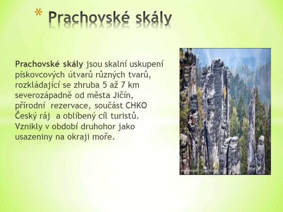 Prachovské skály jsou skalní uskupení pískovcových útvarů různých tvarů, rozkládající se zhruba 5 až 7 km severozápadně od města Jičín, přírodní rezervace, součást CHKO Český ráj a oblíbený cíl turistů.
