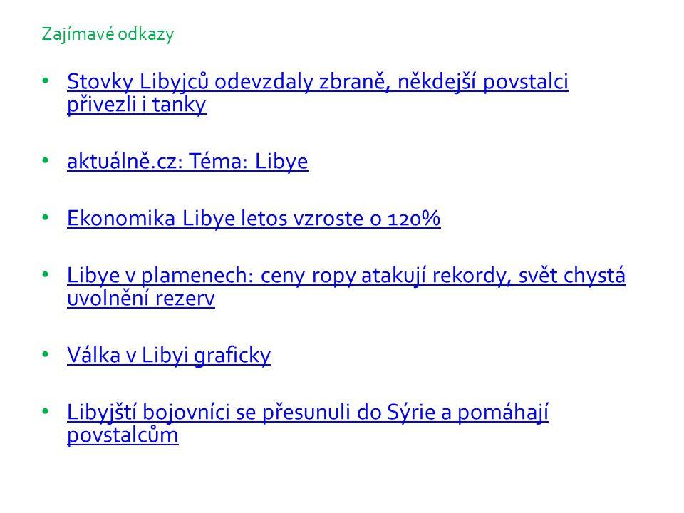 Zajímavé odkazy Stovky Libyjců odevzdaly zbraně, někdejší povstalci přivezli i tanky Stovky Libyjců odevzdaly zbraně, někdejší povstalci přivezli i ta