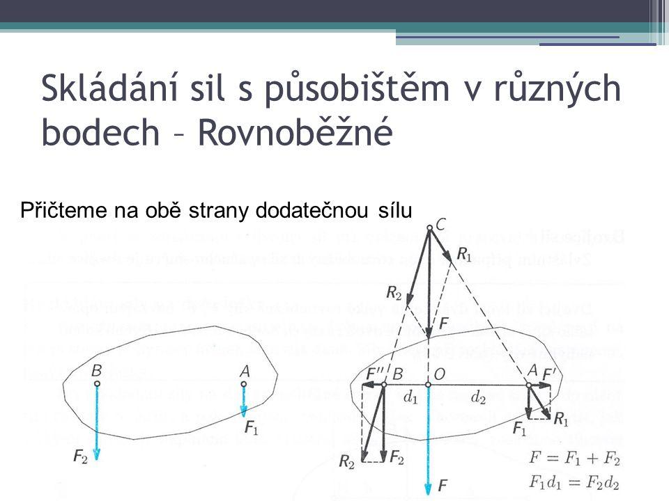 Volná – pracuje jako jednoramenná (jednozvratná) s rameny r, 2r F1 = ½ F2