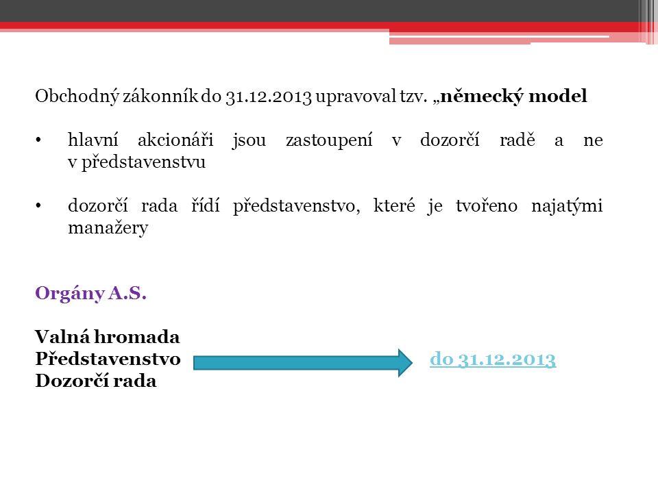 Obchodný zákonník do 31.12.2013 upravoval tzv.