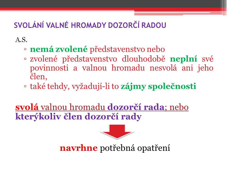 SVOLÁNÍ VALNÉ HROMADY DOZORČÍ RADOU A.S.