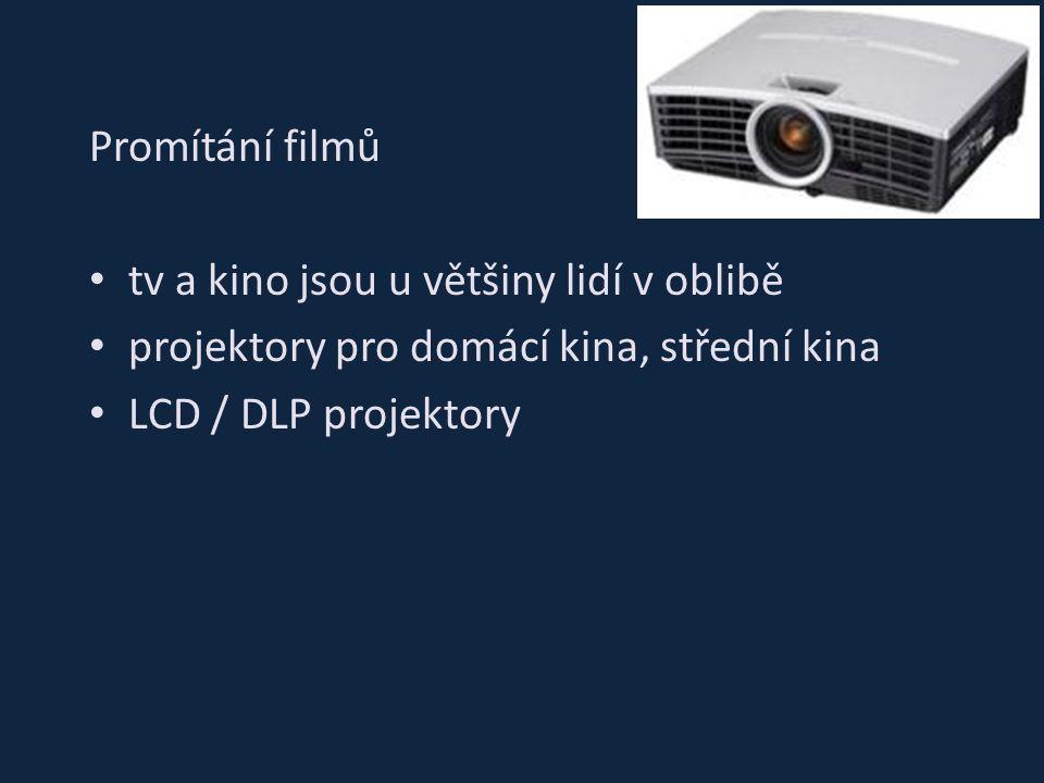 Promítání filmů tv a kino jsou u většiny lidí v oblibě projektory pro domácí kina, střední kina LCD / DLP projektory