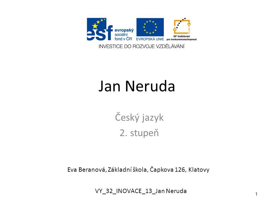 Jan Neruda Český jazyk 2.