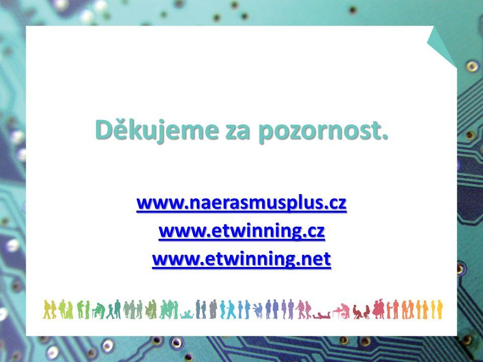 Děkujeme za pozornost. www.naerasmusplus.cz www.etwinning.cz www.etwinning.net