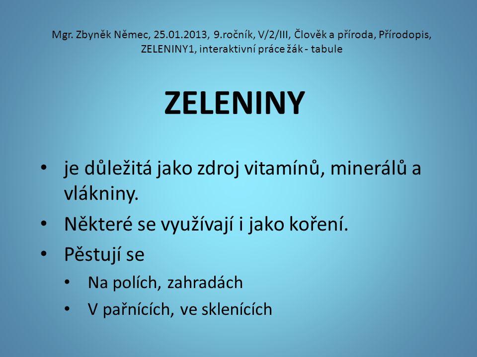 ZELENINY Mgr.